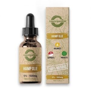Raw Organics CBD Olie 5% 500mg 10ml